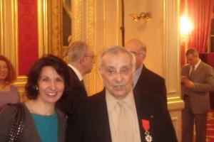 Arsène Tchakarian et Hélène Kosséian Bairamian auteurs du prochain livre Les Commandos de l'Affiche Rouge à l'Elysée